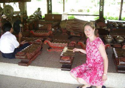 Meine Frau Heike ,Gamelan Tradisional Musik , Bandung 2008